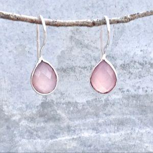 Anthropologie STERLING silver rose quartz EARRINGS